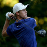 Australian Davis shines with share of lead in FedEx Cup opener