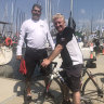 Bike versus boat: creative mates face off in race to Hobart