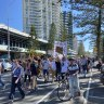 Queenslanders who set foot in NSW during border protest must stay home