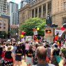 Thousands gather to protest Australia Day in Brisbane