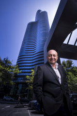 Larry Kestelman outside South Yarra's Capitol Grand development