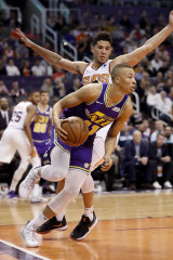 Dante Exum, front, during a game in Phoenix on March 13.