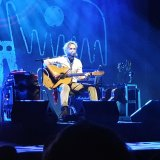 John Butler surrounded by his gear at State Theatre on May 20.
