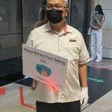 One of Singapore's social distancing ambassadors