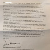 John Howard has sent a letter to voters in the hotly contested seat of Dickson.