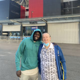 Ruon and Remo caught Newcastle's game against Western Sydney together earlier this month.
