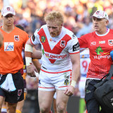 James Graham insisted he was fine but also ended his day early.