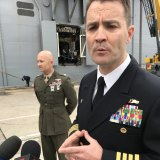 Captain Jim McGovern, Commodore of the US Amphibious Squadron and commander USS Wasp.