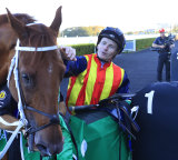 Nature Strip in the winner's stall again a after April's TJ Smith Stakes.
