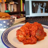 The meatball entree from il Buco Kitchen.