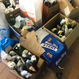Protesters stockpile petrol bombs at the University of Hong Kong in anticipation of further confrontations with police.