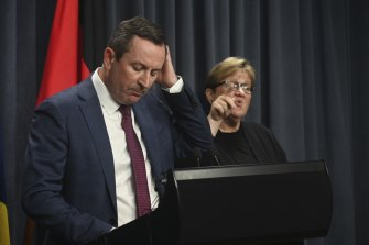 WA Premier Mark McGowan announcing the three-day lockdown in Perth on Friday