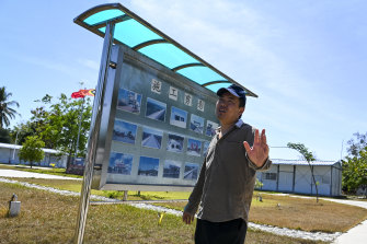 A Chinese engineer for Covec-CRFG is seen at a workers' camp headquarters in the town of Suai Loro, East Timor.