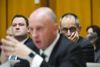 Mike Pezzullo, right, called Australian Federal Police's Deputy Commissioner Neil Gaughan, centre, after a raid on a News Corp journalist's house.