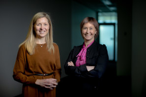 Liberty Sanger (left) and Bronwyn Halfpenny will co-chair a ministerial taskforce investigating ways to prevent sexual harassment within the workplace.
