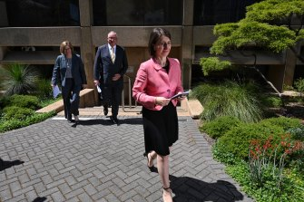 NSW Premier Gladys Berejiklian announced some restrictions would be easing on Friday.