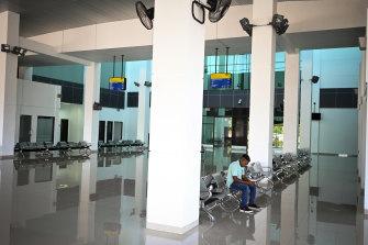 The near-empty waiting hall at Kay Rala Xanana Gusmao International Airport in Suai, East Timor.