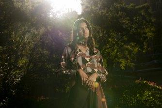 Model Lisa Fatnowna wearing Ngali by Denni Francisco.