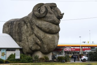 A Melbourne man and his family who tested positive for COVID-19 stopped at the Shell Coles Express Big Merino on their way home from Jervis Bay.