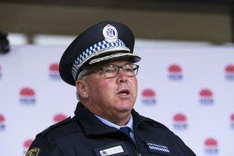 NSW Police Deputy Commissioner Gary Worboys provides a COVID-19 update. St Leonards, Sydney. July 10, 2021.