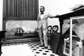 Joseph Brown in his gallery in South Yarra.