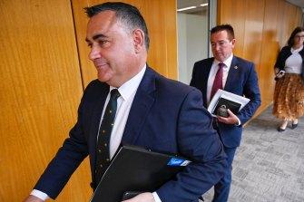 Deputy Premier John Barilaro has refused to rule out splitting the Coalition again.
