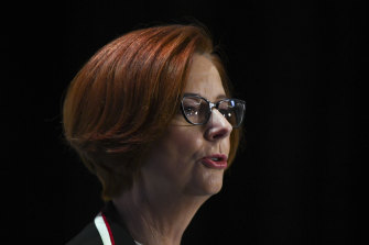 Julia Gillard is pleased to see young people being politically active.