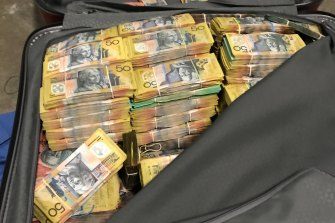 Police seized $2.75 million in cash at a Waterloo property.