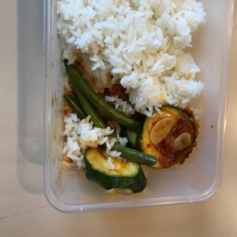 One of the meals served to 407 visa workers at the Escarpment Group of hotels.