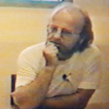 "Killer: Alistair ""Sandy"" MacRae is interviewed by Victoria Police at Pentridge Prison in 1992."