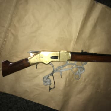 A sawn-off rifle police allegedly seized from Alexander Victor Miller in June.