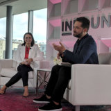 Alexis Ohanian in conversation with Hubspot's Laura Moran.