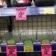 Empty shelves at an inner Melbourne Chemist Warehouse store.