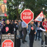 Protesters ask for science to be the key factor in the decision to approve or reject the groundwater management plan for  Adani's Carmichael mine in central Queensland.