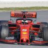 Vettel crashes in F1 testing, Sainz shows speed