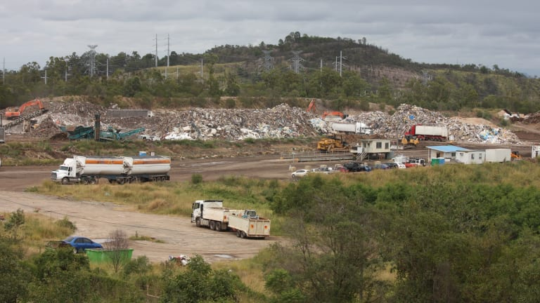 BMI owns waste facilities in Brisbane, the Gold Coast and this recycling plant on the site of a former coal mine at Swanbank in Redbank Plains, Ipswich, near the proposed new dump.