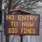 The border between NSW and Victoria is now closed, for the first time in 100 years.