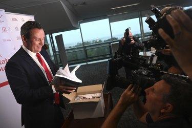 WA Premier and Treasurer Mark McGowan delivers the state's 2021 budget.