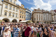 Prague, Czech republik, eastern europe- august  04, 2016: Thousands of tourists visiting the old town of Prague at the holiday season iStock image for Traveller. Re-use permitted. Prague overtourism, tourist crowds