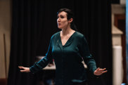 Kathryn Radcliffe in rehearsals for Victorian Opera