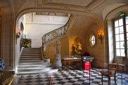 The staircase at Musee de Nissim Camondo, the former home of Moise de Camondo in Paris.