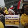 European leaders rally behind tattered Iran deal, ignoring Trump