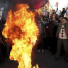 Protesters shot, beaten in Iran as general pleads for forgiveness