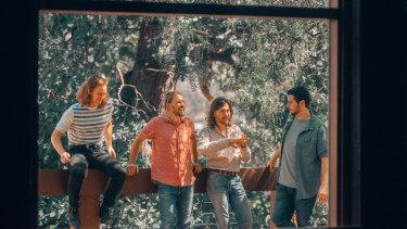 The Teskey Brothers (from left) Liam Gough, Josh Teskey, Sam Teskey and Brendon Love.