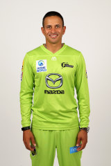Usman Khawaja poses for his new Thunder photo on Wednesday.