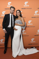 Ward with wife Ruby at the GWS Brownlow event earlier this week.