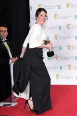 Olivia Colman wearing a dress by Emilia Wickstead at the 2019 Baftas.