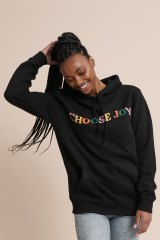 Consequence of Change 'Choose Joy' sweat, $99