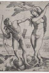 Agostino dei Musi, Apollo and Daphne, 1515, engraving.