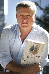 Actor and writer Peter Phelps with his latest book, The Bulldog Track.